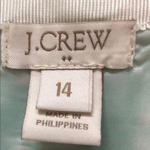 JCrew 14 Geometric green gold white skirt
